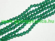 Zöld Bicon Üveggyöngy Gyöngyfüzér 6mm