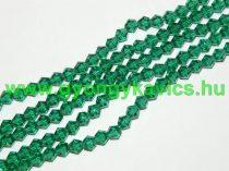 Zöld Bicon Üveggyöngy 6mm
