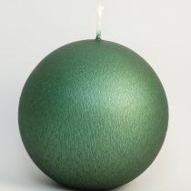 Zöld Cirmos Gömb Gyertya 8cm