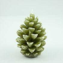 Zöld Fenyőfa Karácsonyfa Toboz Gyertya 11x8cm