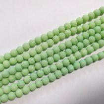 Zöld Színű Festett Üveggyöngy Lávakő Imitáció 8mm