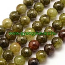 Zöld Gránát Gránátkő Ásványgyöngy Gyöngyfüzér 10mm