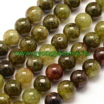 Zöld Gránát Gránátkő Ásványgyöngy 10mm