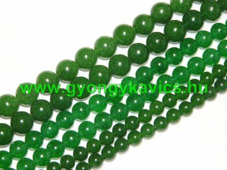 Zöld Jade Ásványgyöngy Gyöngyfüzér 6mm