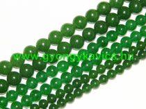 Zöld Jade Ásványgyöngy Gyöngyfüzér 8mm