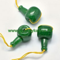 Zöld Jade Guru Gyöngy 21x11mm