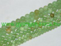 Zöld Jade (vegyes) Ásványgyöngy 6mm
