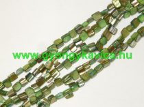 Zöld Kagyló Gyöngy Gyöngyfüzér 8x8x5mm