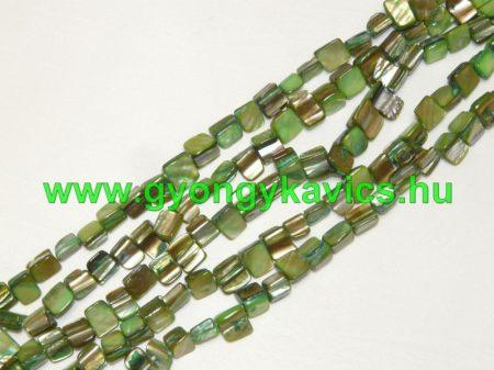 Zöld Kagyló Gyöngy 8x8x5mm
