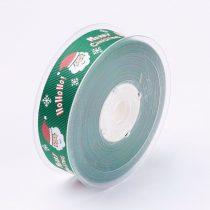 Zöld Karácsonyi Merry Christmas HoHoHo Szalag 25mm 1m