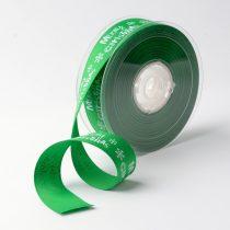 Zöld Karácsonyi Merry Christmas Szalag 25mm 1m