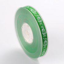 Zöld Karácsonyi Mikulás HoHoHo Szalag 9mm 1m