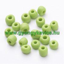 Zöld Kásagyöngy 4mm 6/0 10gr