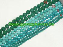 Zöld Lávakő Ásványgyöngy Gyöngyfüzér 12mm