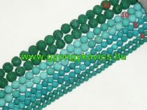 Zöld Lávakő Ásványgyöngy 12mm