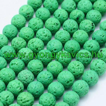 Zöld Lávakő Ásványgyöngy Gyöngyfüzér 8mm