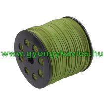 Zöld (2) Műbőr Szál 2,7x1,4mm 1m
