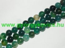 Zöld Ónix Achát (2) Ásványgyöngy Gyöngyfüzér 10mm