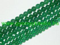 Zöld Ónix Achát Ásványgyöngy Gyöngyfüzér 6mm
