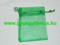 Zöld Organza Díszzacskó Dísztasak 12x9cm
