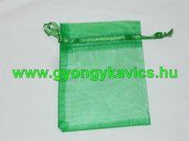 Zöld Organza Díszzacskó Dísztasak 15x10cm