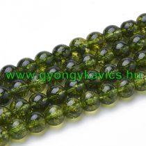 Zöld Peridot Ásványgyöngy Gyöngyfüzér 6mm
