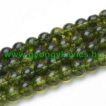 Zöld Peridot Ásványgyöngy 6mm