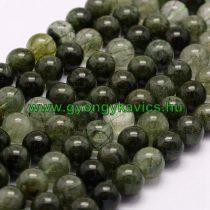 Zöld Rutilkvarc Ásványgyöngy Gyöngyfüzér 10mm