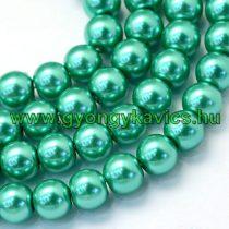 Zöld Szintetikus Kagyló Gyöngy 8mm