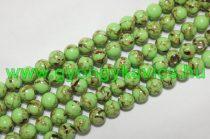Zöld Szintetikus Gyöngy Valódi Kagyló Darabokkal 8mm