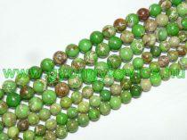 Zöld Tengeri Jáspis Regalit Ásványgyöngy Gyöngyfüzér 10mm