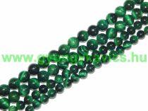 Zöld Tigrisszem Ásványgyöngy Gyöngyfüzér 10mm