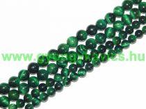 Zöld Tigrisszem Ásványgyöngy Gyöngyfüzér 8mm