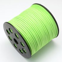 Zöld (134) Műbőr Velúr Szál 3mm 1m